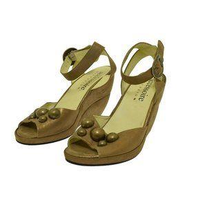 Accessoire Diffusion Gold Bronze Women's Heels Wedge Open Toe 39 US 9.5
